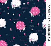 Seamless Pattern With Sleeping...