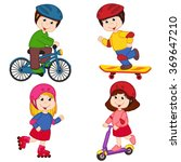 set of isolated children and... | Shutterstock .eps vector #369647210