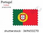 portugal stamp design over... | Shutterstock .eps vector #369653270