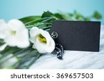 White Flowers With Card