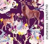 spring forest seamless pattern. ... | Shutterstock . vector #369657740