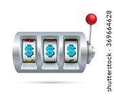 slot machine isolated on white...   Shutterstock .eps vector #369664628