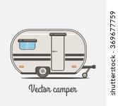 camper. vector illustration | Shutterstock .eps vector #369677759