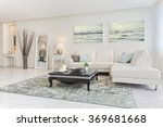 luxury modern living room | Shutterstock . vector #369681668