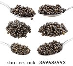 set of handfuls of black... | Shutterstock . vector #369686993