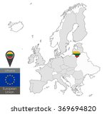 map of lithuania with an... | Shutterstock .eps vector #369694820