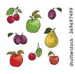 fruit pattern | Shutterstock .eps vector #369697499