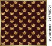 royal vintage pattern. golden... | Shutterstock . vector #369705704