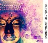 Buddha Statue On Grunge...