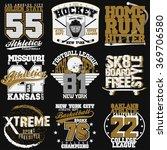 sport typography graphics...   Shutterstock .eps vector #369706580