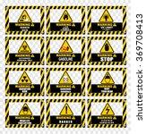 warning icons | Shutterstock .eps vector #369708413
