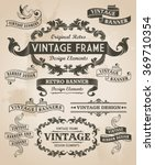 retro vintage banner and ribbon