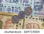 different banknotes and coins ... | Shutterstock . vector #369715004