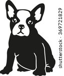 sitting french bulldog | Shutterstock .eps vector #369721829