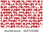 heart pattern  heart background.... | Shutterstock .eps vector #369724280