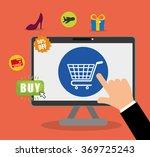 digital marketing and ecommerce | Shutterstock .eps vector #369725243