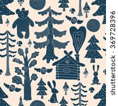 magic forest. seamless pattern... | Shutterstock .eps vector #369728396