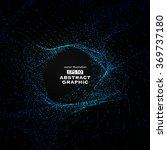 dot pattern composed of mesh... | Shutterstock .eps vector #369737180