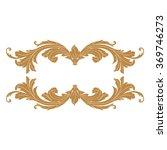 premium gold vintage baroque... | Shutterstock .eps vector #369746273