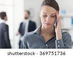 female office worker having an... | Shutterstock . vector #369751736