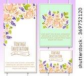 vintage delicate invitation... | Shutterstock .eps vector #369752120