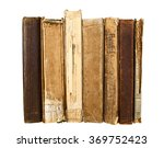 Old Books Isolated On White...