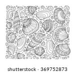 seashell pattern art background.... | Shutterstock .eps vector #369752873