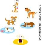 cartoon fun dogs set. fun dogs. ...
