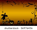 halloween illustration with... | Shutterstock .eps vector #36976456