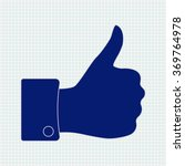 thumb up. icon on notebook... | Shutterstock .eps vector #369764978