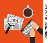 jobs concept design  | Shutterstock .eps vector #369766169