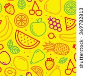fruits seamless vector pattern... | Shutterstock .eps vector #369782813
