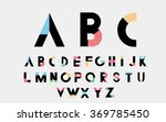 color alphabetic font. vector... | Shutterstock .eps vector #369785450