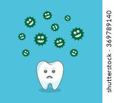 tooth and bacteria attacking it....   Shutterstock .eps vector #369789140