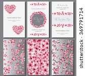 wedding card or invitation with ... | Shutterstock .eps vector #369791714