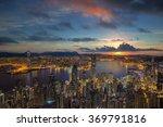 Hong Kong City Sunrise  Night...