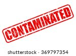 contaminated red stamp text on... | Shutterstock .eps vector #369797354