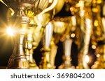 group of the golden trophies in ... | Shutterstock . vector #369804200
