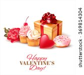 valentines day background with... | Shutterstock .eps vector #369814304