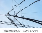 Tram Cables Detail Close Up Of...