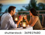 young   romantic couple... | Shutterstock . vector #369819680