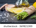 Bunch Of Fresh Asparagus With...