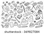 doodle vector sweets | Shutterstock .eps vector #369827084