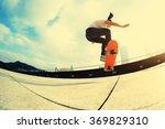 skateboarder skateboarding at... | Shutterstock . vector #369829310