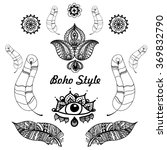 vector illustration of boho... | Shutterstock .eps vector #369832790