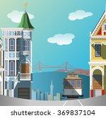 san francisco landscape   Shutterstock .eps vector #369837104