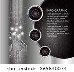 dark black silver web design... | Shutterstock .eps vector #369840074