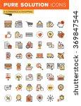 e commerce thin line flat... | Shutterstock .eps vector #369847544