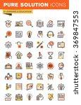 education thin line flat design ... | Shutterstock .eps vector #369847553