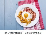 english breakfast with grilled... | Shutterstock . vector #369849563